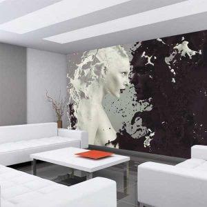 Vlies Fototapete Milk Coffee Wohnwand