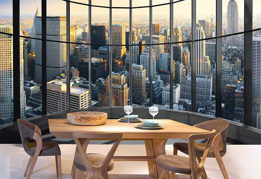 fototapete new york office view 3d tapete. Black Bedroom Furniture Sets. Home Design Ideas