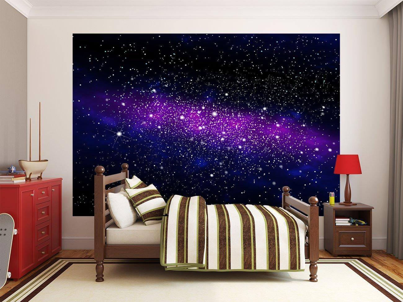 Fototapete galaxy dekotapete sternenhimmel welltall for Fototapete babyzimmer