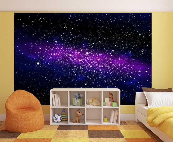 fototapete galaxy dekotapete sternenhimmel welltall. Black Bedroom Furniture Sets. Home Design Ideas