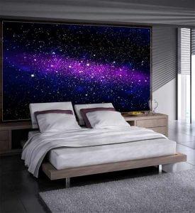 Fototapete Galaxy Weltall Schlafzimmer