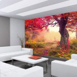 Vlies Fototapete Herbst Baum Couch