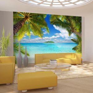 Vliesfototapete Meer - Palmen und Strand