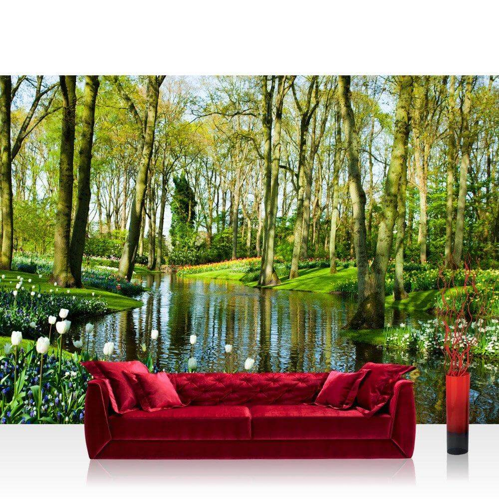 vlies fototapete natur dekotapete mit spreewald flair. Black Bedroom Furniture Sets. Home Design Ideas