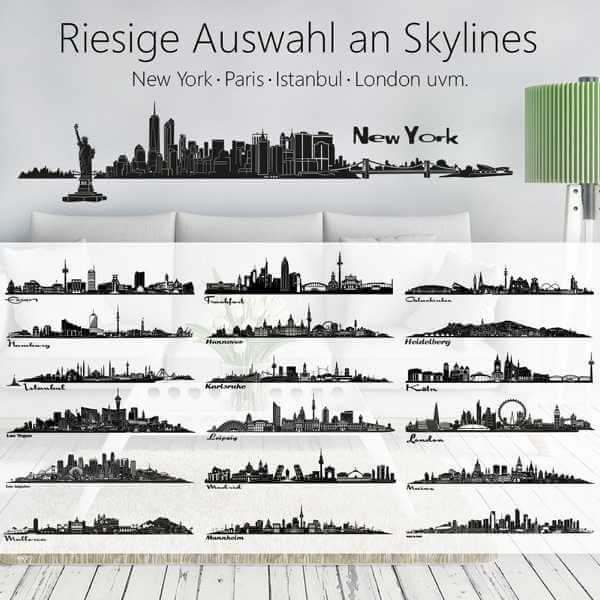 wandtattoo skyline deine stadt gro e auswahl. Black Bedroom Furniture Sets. Home Design Ideas