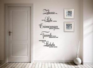 Wandtattoo Spruch Zuhause ist wo die Liebe wohnt...