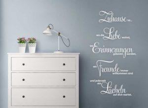 Wandtattoo Spruch Zuhause ist wo die Liebe wohnt... Wohnansicht