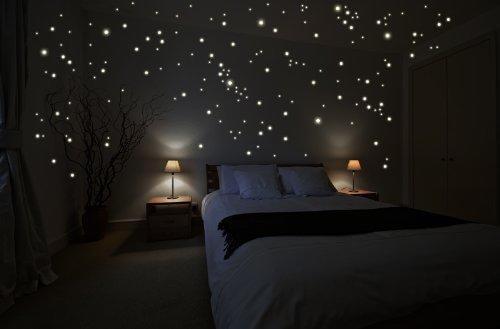 Kinderzimmer sternenhimmel  Wandtattoo Kinderzimmer Sternenhimmel - Leuchtpunkte ♥ dekodealz.de