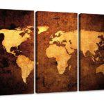 Leinwandbild Weltkarte