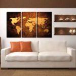 Leinwandbild Weltkarte Wohnansicht