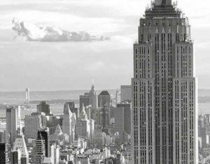 Wandgarderobe Manhattan Syline Motiv
