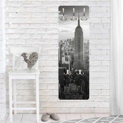 Wandgarderobe Manhattan Skyline Wohnansicht