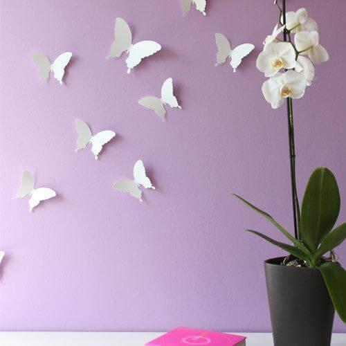 Wandtattoo Schmetterling 3D