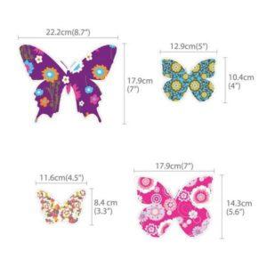 Wandtattoo bunte Schmetterlinge Größen