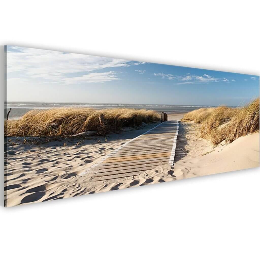 Leinwandbild Kunstdruck Wandbild Strand Landschaft