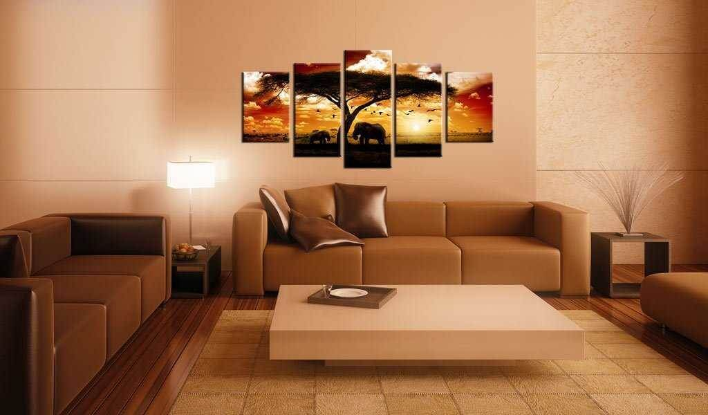 Leinwandbild Afrika Sonnenuntergang im Wohnraum