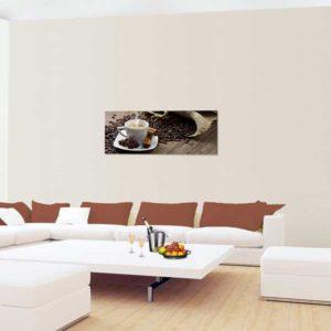Leinwandbild Kaffee Couch