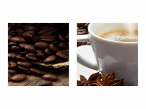 Leinwandbild Kaffee Details