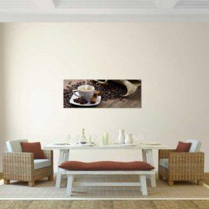 Leinwandbild Kaffee Tisch