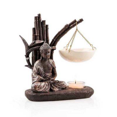 PAJOMA Duftlampe Buddha aus Kunstharz