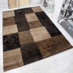 Designer Teppich modern in braun
