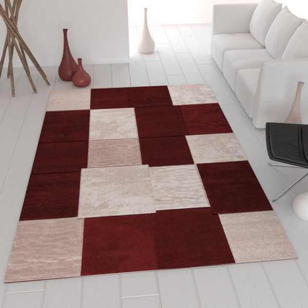designer teppich kariert mehrere farben. Black Bedroom Furniture Sets. Home Design Ideas