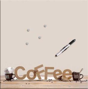Memoboard Kaffee Nahansicht