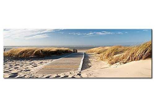 Glasbild Strand Meer Front