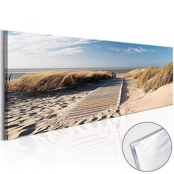 Glasbild Strand Meer