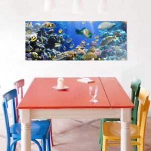 Glasbild Unterwasser Rief Tisch