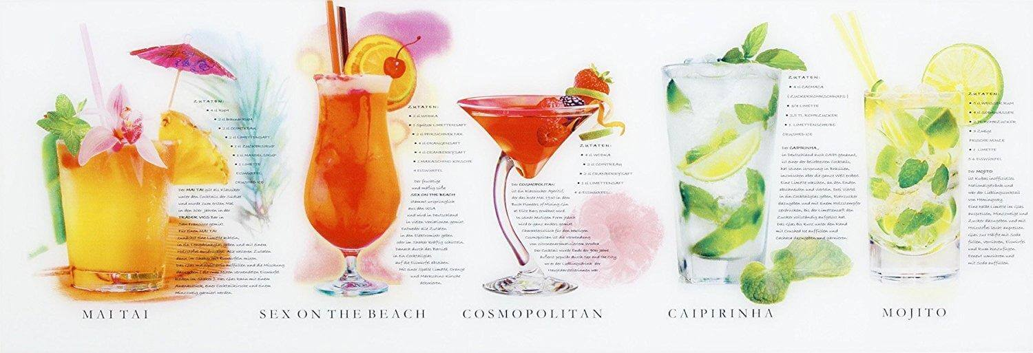 Glasbild Cocktails