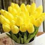 Blumenstrauß Tulpen gelb Kunstblumen