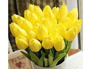 Blumenstrauß Tulpen - Kuntslumen in gelb