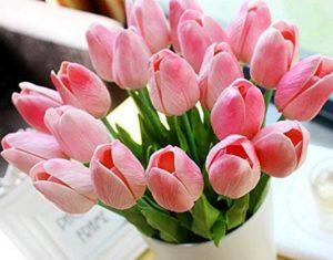 Blumenstrauß Tulpen - Kuntslumen in hellrosa