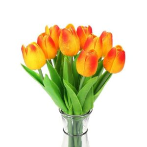 Blumenstrauß Tulpen Kunstblumen in Orange-gelb