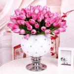 Blumenstrauß Tulpen rosa Kunstblumen