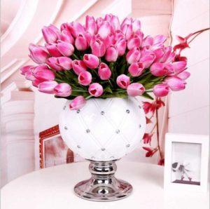 Blumenstrauß Tulpen -Kunstblumen in Rosa