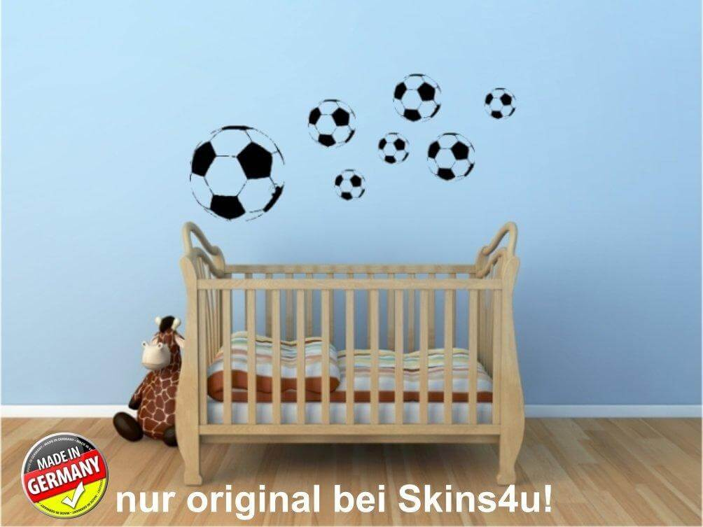 wandtattoo fussball xxl set kinderzimmer aufkleber. Black Bedroom Furniture Sets. Home Design Ideas