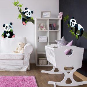 Wandtattoo Pandabären Babyzimmer