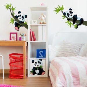 Wandtattoo Pandabären Kinderzimmer