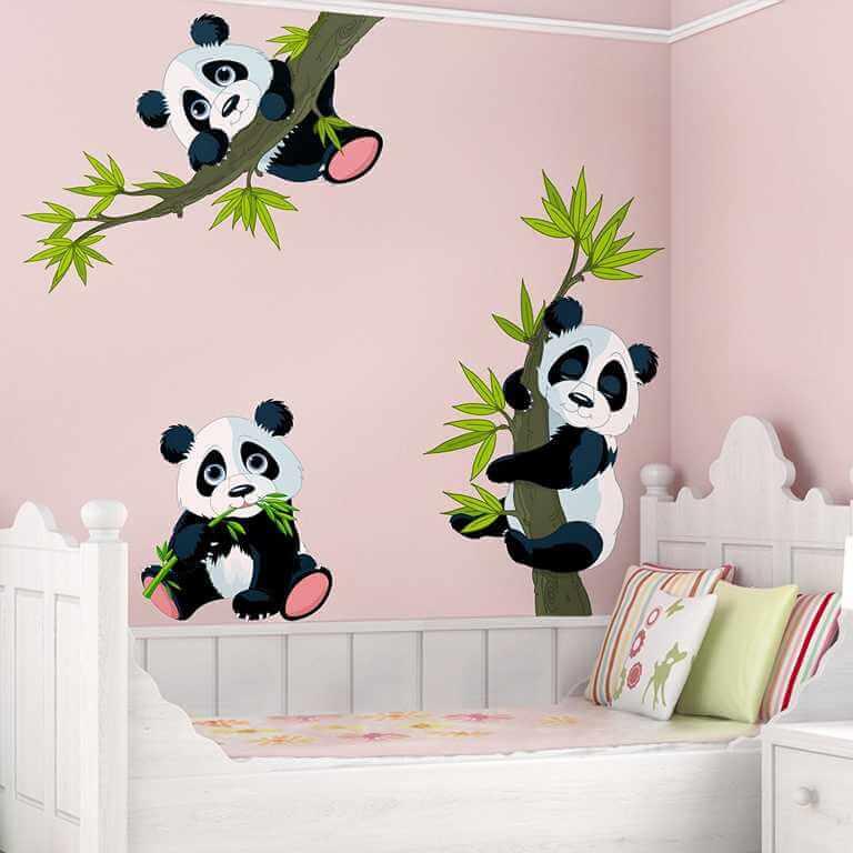 Wandtattoo Pandabären