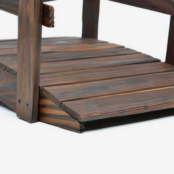 Holzbrücke nah mit Details
