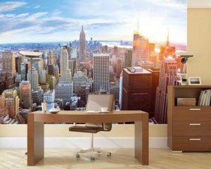 Fototapete Penthouse als Büro