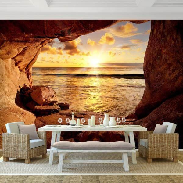 Vlies fototapete strand mit sonnenuntergang for Fototapeten vliestapeten