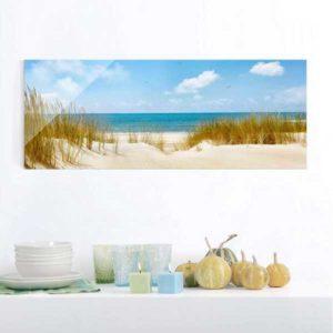 Glasbild Strand an der Nordsee