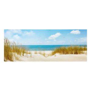 Glasbild Strand an der Nordsee Motiv