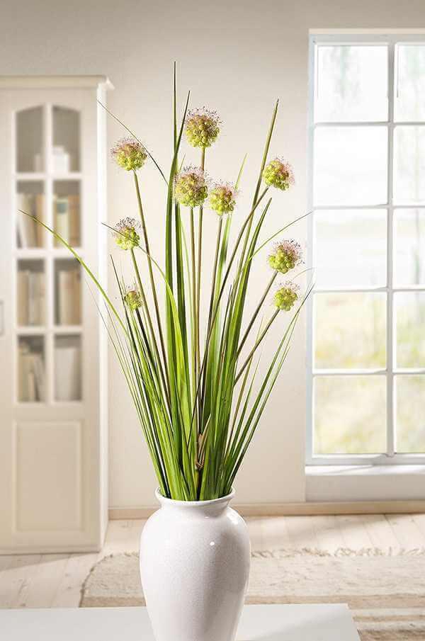 Deko Gräser Fruchtstände mit Vase