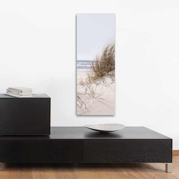 glasbild strand sea of dunes wohnansicht