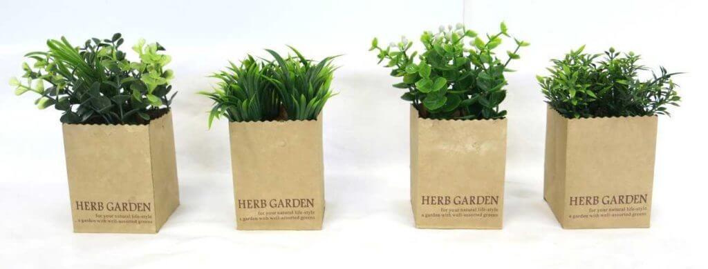 Kunstpflanze Deko Gräser im 4er Set