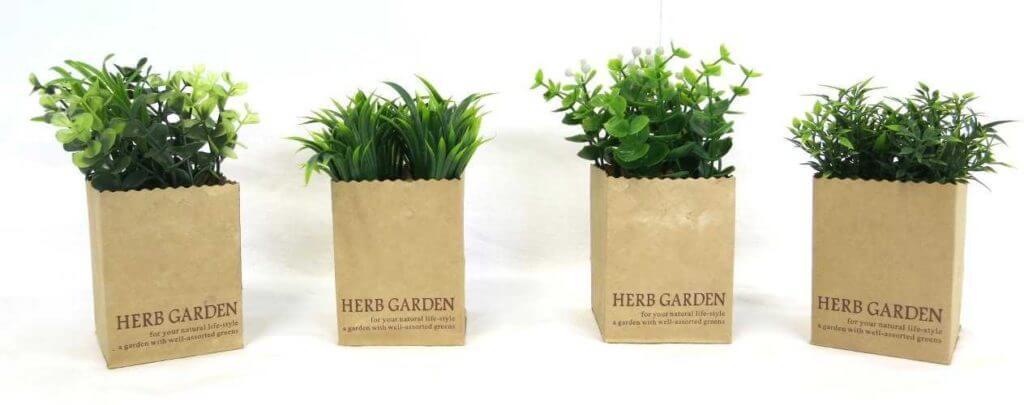Kunstpflanze Deko Gräser im 4er Set Seite
